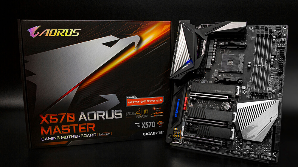 X570 AORUS MASTER features a stylish, advanced thermal design to ensure excellent performance!
