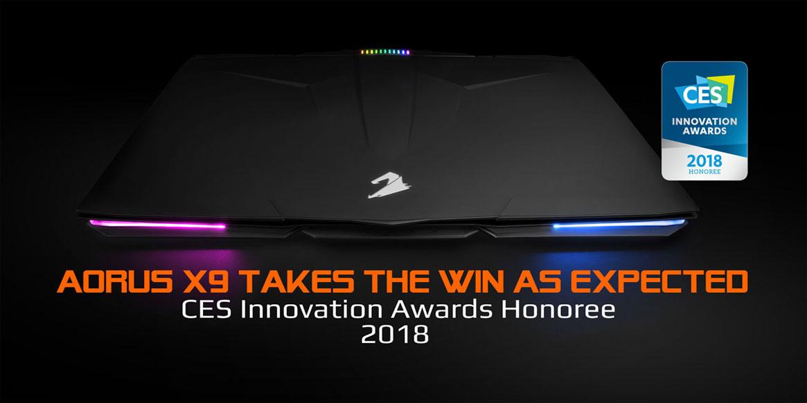 AORUS X9 Claims the 2018 CES Innovation Award As Expected | AORUS