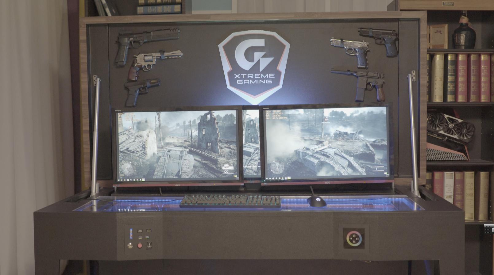 Pc Mod Custom Gaming Pc Desk Aorus