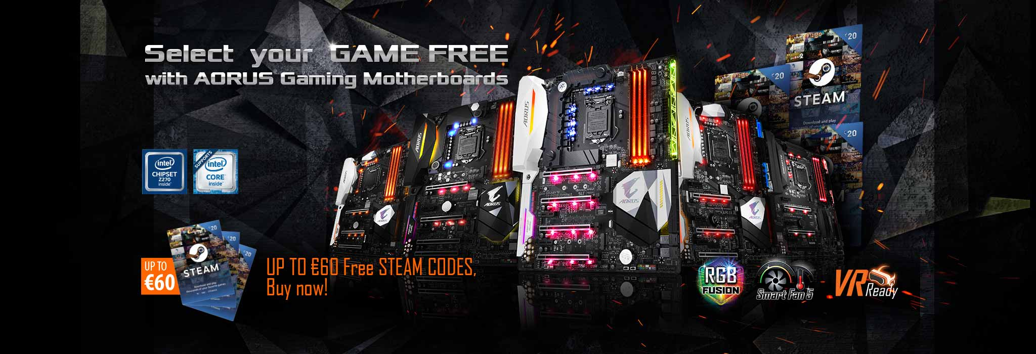 Aorus Gaming Motherboards Come With Fun Up To 60 Free Steam Codes