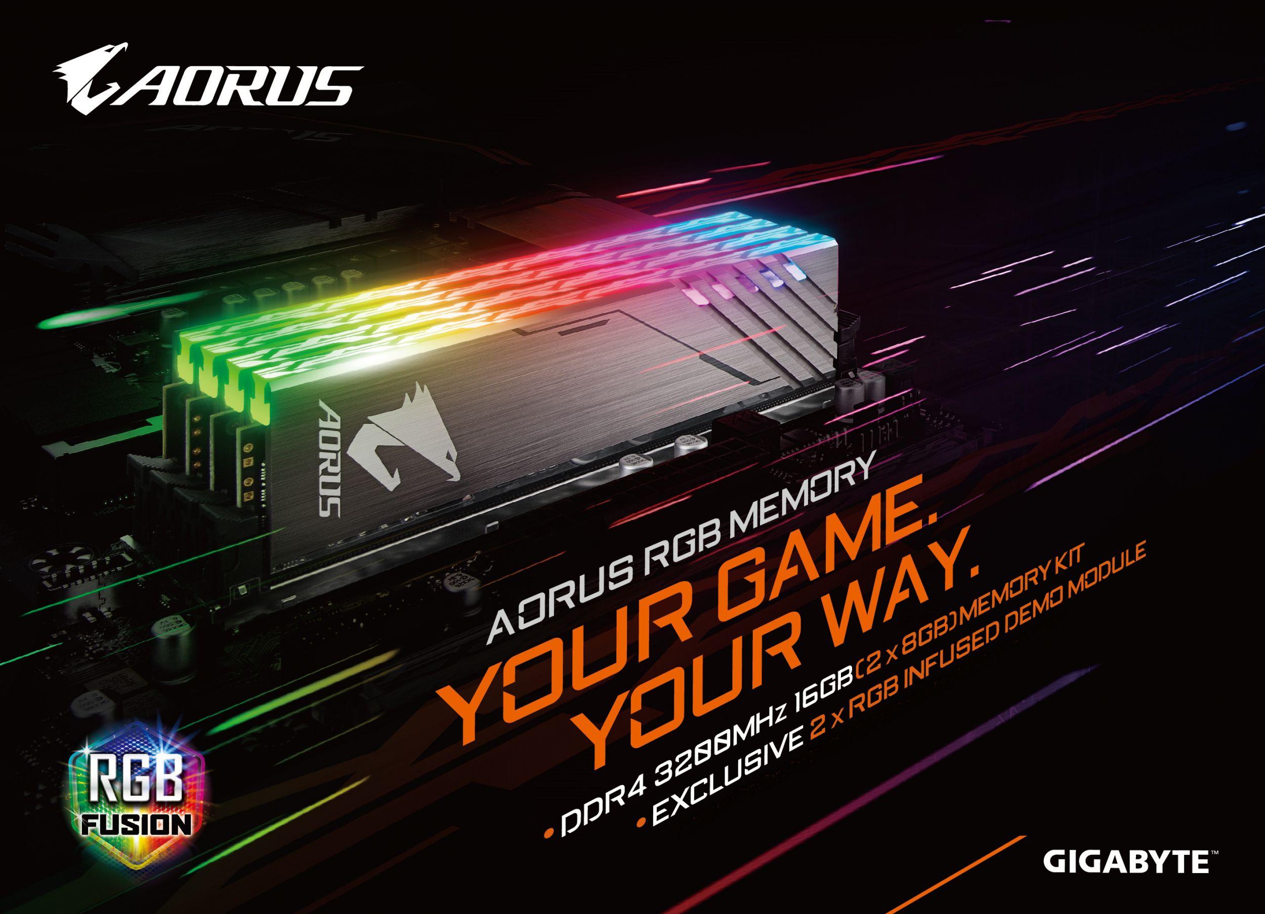 GIGABYTE Lights Up DRAM Market With AORUS RGB Memory | AORUS
