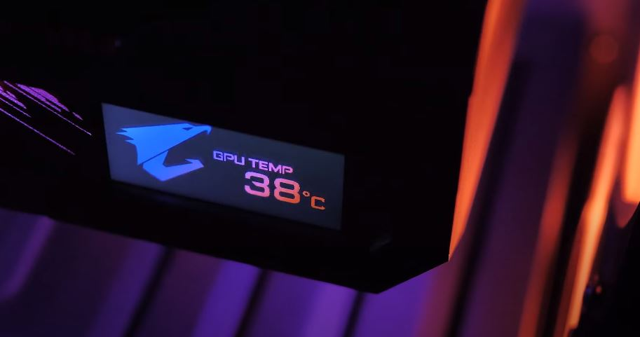 Show Gpu temp on AORUS LCD Edge View
