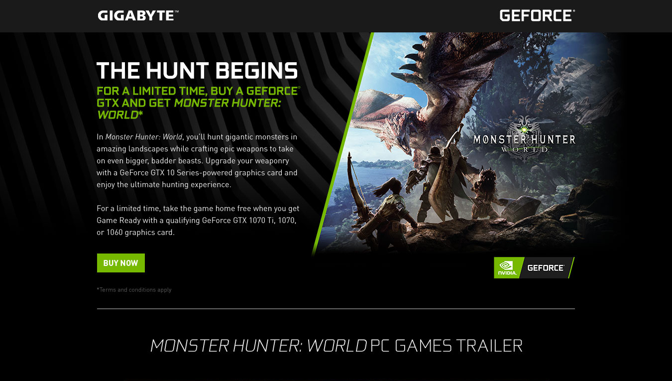 Monster Hunter: World - GIGABYTE GeForce Game Ready Bundle | AORUS