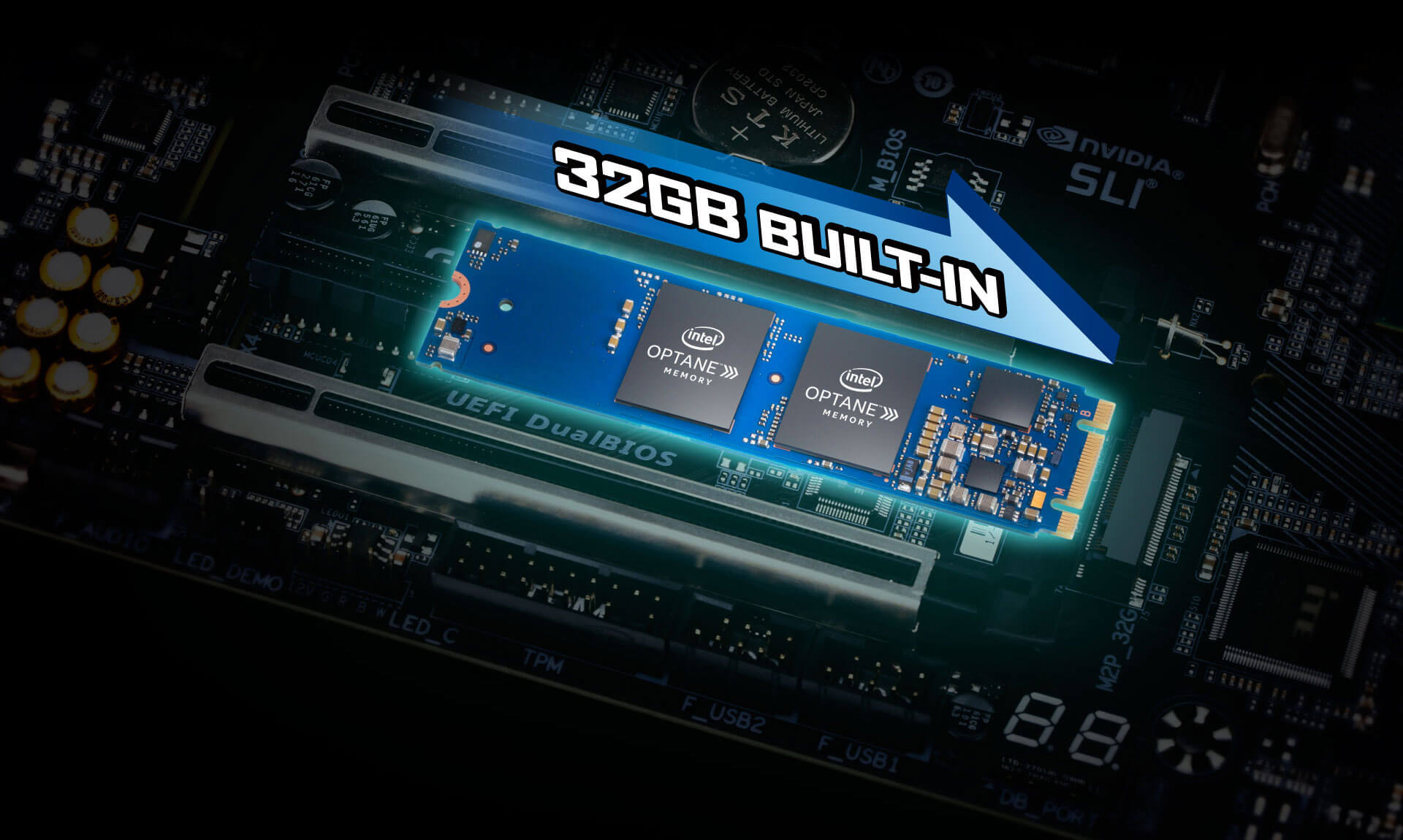 32GB Built-In Optane Preinstalled On the Board