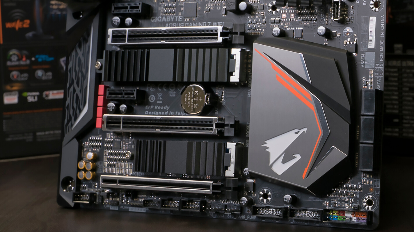 x470 aorus gaming 7 with two aorus thermal guards