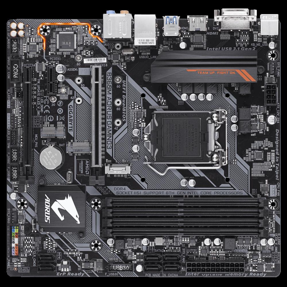Gigabyte B360M AORUS GAMING 3 Motherboard CPU i3 i5 i7 LGA1151 Intel DDR4 HDMI