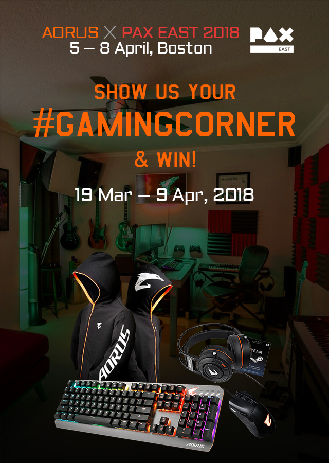 PAX EAST 2018 |Show us your #GamingCorner & Win!