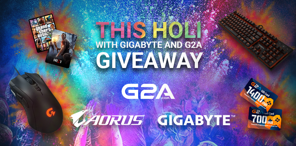 Enjoy this Holi with AORUS - GIGABYTE and G2A