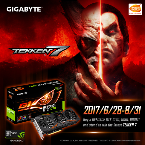 [SG]Buy GTX 1070/1080/1080Ti and stand to win Tekken 7