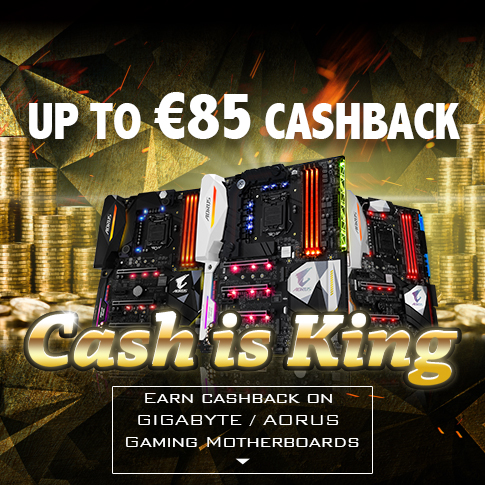 Earn Cashback on GIGABYTE / AORUS Gaming Motherboards