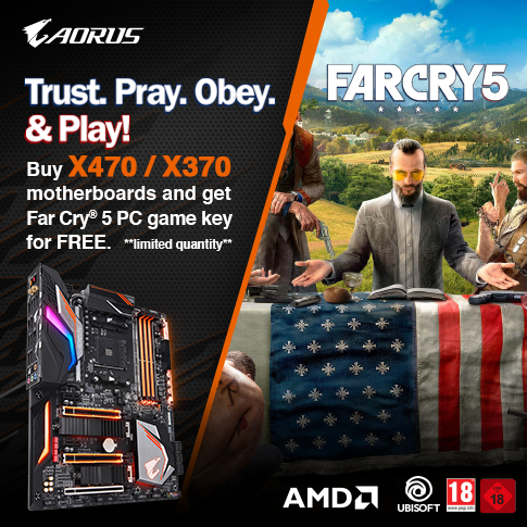 Buy selected AORUS Gaming motherboards and get Far Cry 5 PC game key for FREE*_Singapore