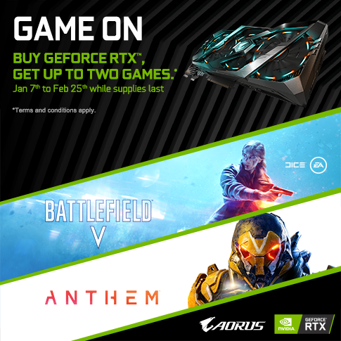 Buy a Qualifying GIGABYTE RTX 2080Ti, 2080 ,2070 and 2060 Graphics Card and get up to two Games!  _Singapore