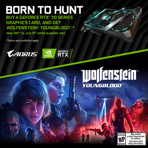 Buy a GeForce RTX 20 Series Graphics Card, and Get Wolfenstein®: Youngblood™