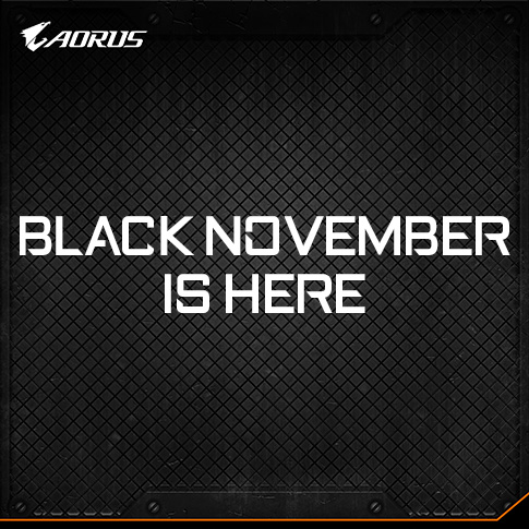 AORUS Black November: Big Savings on Graphics Cards, Motherboards, and More