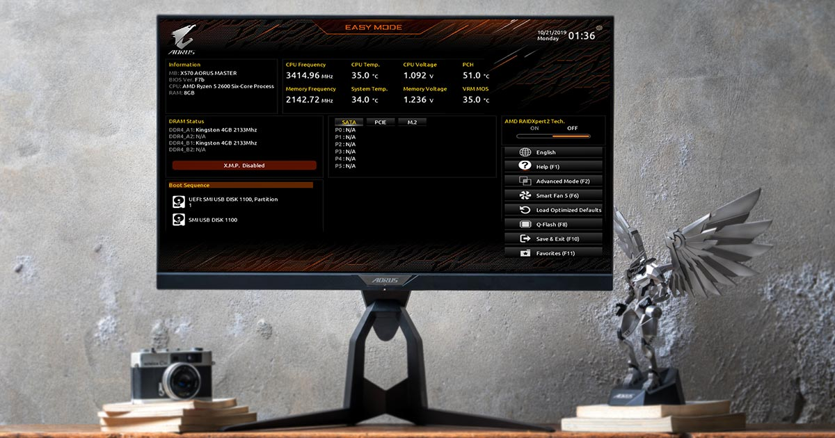 GIGABYTE BIOS is back with an awesome new design