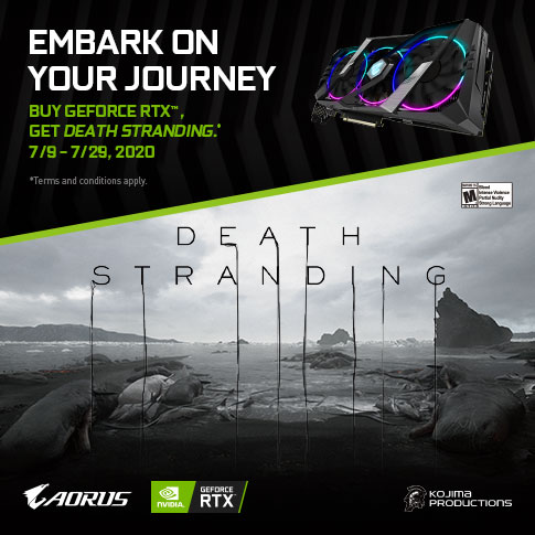 【SINGAPORE】PURCHASE ANY GIGABYTE AORUS RTX 20/SUPER SERIES GRAPHICS CARD AND GET DEATH STRANDING