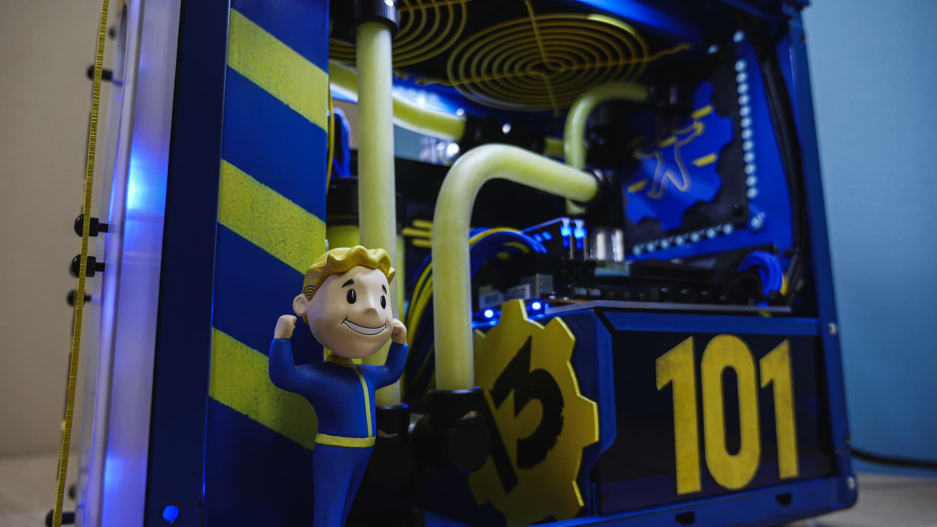 Project Vault Boy:Fallout Theme PC Modding #DesIgnYourAORUS
