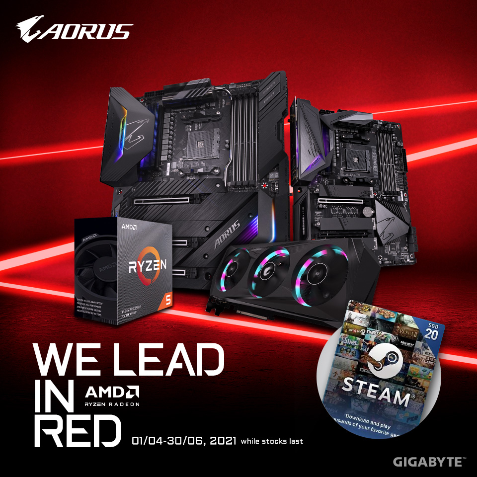 WE LEAD IN RED - AORUS x AMD Q2 Promotion
